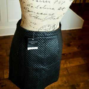 NWT TOPSHOP Faux leather Skirt