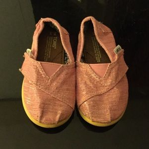 TOMS Other - Pink n silver toms