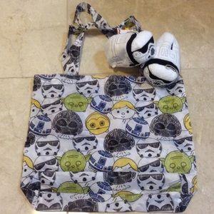 Disney Handbags - Disney Star Wars Storm Trooper tsum tsum Eco bag