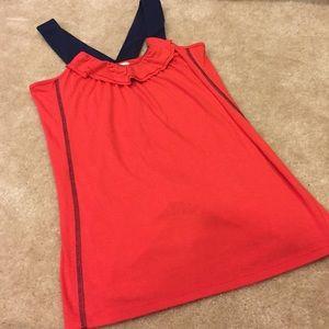 MYNT 1792 Tops - Mynt tomato red/ navy top