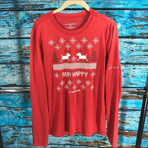 Brooks Tops   Running Ugly Christmas Sweater Sale   Poshmark