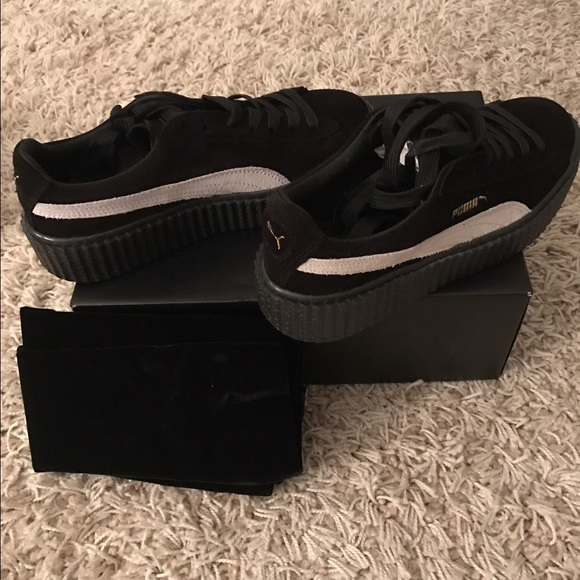 on sale 145e7 550cb Rihanna Black Fenty x Puma creeper size 8 NWT