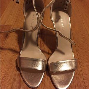Nine West Shoes - Gold Nine West Mana Heel