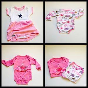 4a56816bc2 Dallas Cowboys Dresses - Bundle 3 mo Dallas Cowboys Dress One Piece Pink