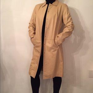 Classiques Entier Jackets & Blazers - Classiques Entier Tan Leather Coat