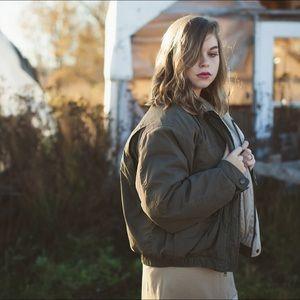 Free People Jackets & Blazers - Vintage olive puffer coat!