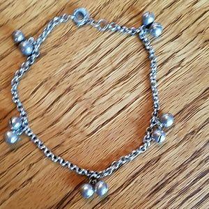 "Sterling silver bracelet dangling 9"""