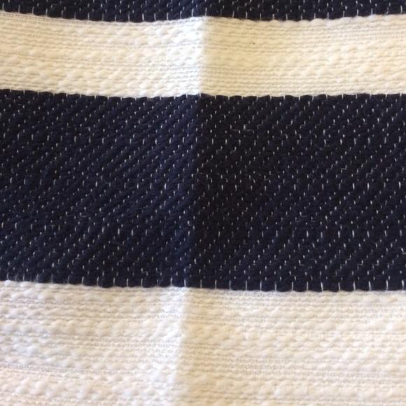 LOFT Skirts - Loft Navy and White Striped Skirt