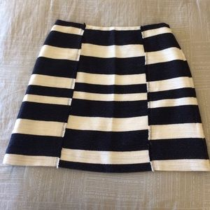 LOFT Skirts - Loft Navy and White Striped Skirt