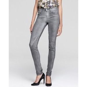 Joe's Jeans Sz 26 The Skinny Silver Coated Jeans!