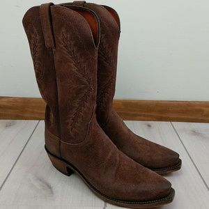 Lucchese Shoes - Lucchese 1883 Boots Choc Burnished Wax Comanche
