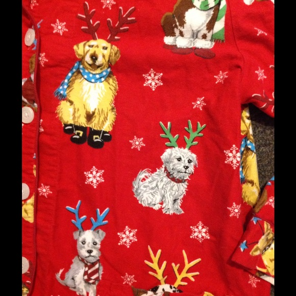 Christmas Pajamas For Dog.Nick Nora Red Christmas Dog Flannel Pajamas Xl