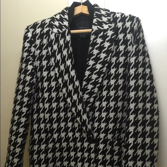 Theory Jackets & Blazers - THEORY DANVEG BROOKLINE HOUNDSTOOTH WOOLBLEND COAT