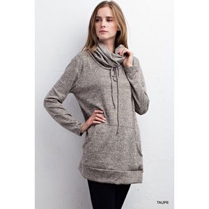 likeNarly Sweaters - •FINAL PRICE• Taupe Marled Cowl Neck Sweater