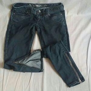 Women's Express jeans Pants Gray 4 Denim Legging