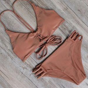 triangl swimwear Other - Brazilian bikini sexy crisscross cheeky tan taupe