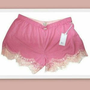PJ Salvage Other - PJ Salvage Pink Lace Trimmed Sleep Shorts