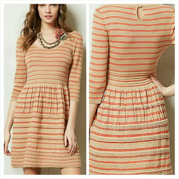 2374e6fd38b Anthropologie Dresses   Skirts - Knitted   Knotted Elodie Striped Sweater  Dress