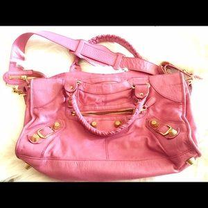 Balenciaga Handbags - Balenciaga Pink Giant 21 Gold City part time