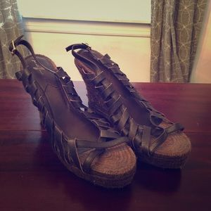 Brown 7 For All Mankind Wedges