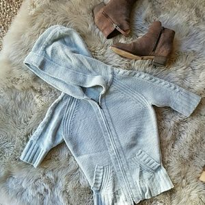 100% cashmere Joie cable knit hoodie
