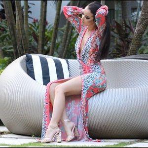 Beach kaftan coverup maxi dress
