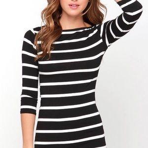 Heir Lines Black Striped Dress