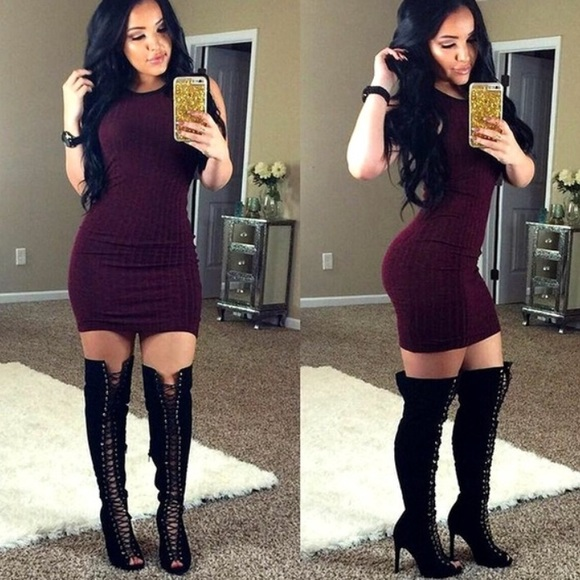 sexy dress and boots