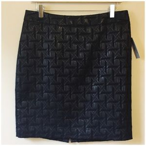 NWT Worthington Black Bamboo Jacquard Pencil Skirt