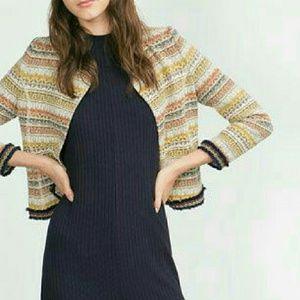NWT. Zara Jacquard women's Jacket. Size M