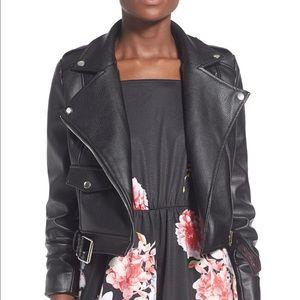 Missguided Jackets & Blazers - Missguided leather biker moto jacket