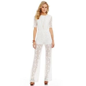 Sugarlips Pants - Sugarlips Lace Open Back Jumpsuit