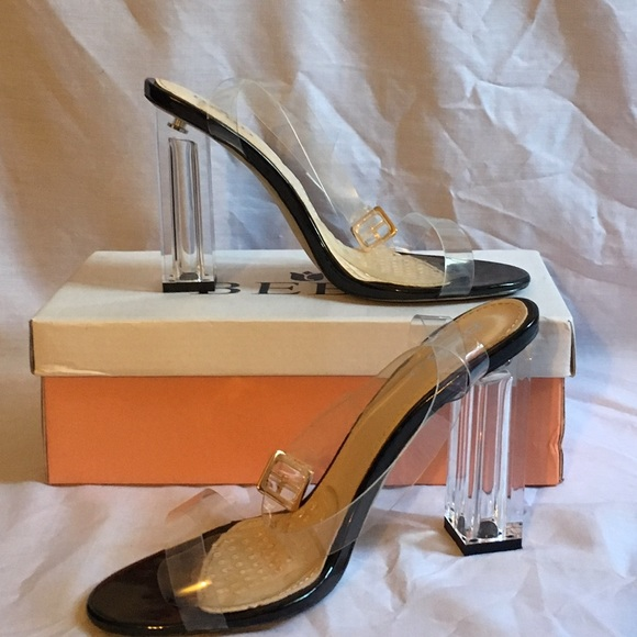 fbe3c9d2ed6 Boohoo Shoes - Clear Strappy Perspex Clear Heel 😍