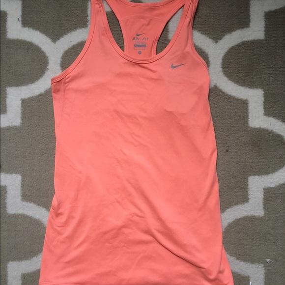 d58399c11e Nike Dri-Fit Neon orange coral athletic tank top. M 58407a92f739bc9a1b03282b