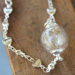 Jewelry - Real dandelion wish bracelet