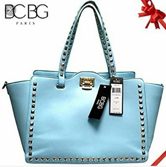 232ece3fb3 BCBG Handbags - BCBG Paris Square Studded Tote