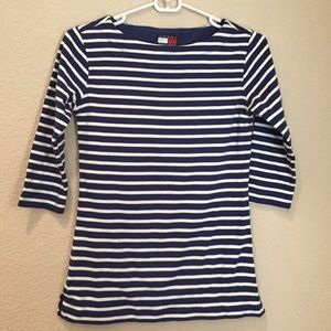 Tommy Hilfiger Tops - Tommy Hilfiger boat neck striped top GUC