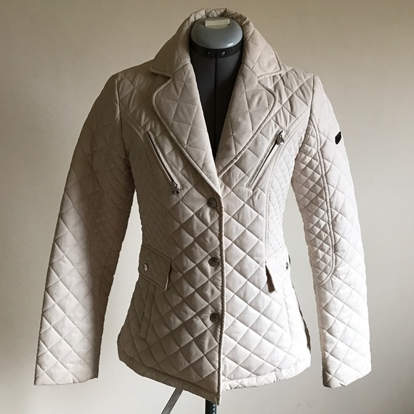 Laundry By Shelli Segal Jackets Coats Cream Quilted Coat Poshmark