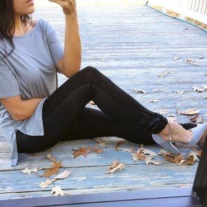 Pants - LAST CHANCE🔥 Black side detail leggings