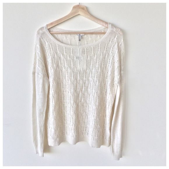 59% off Joie Sweaters - Joie Cream Colored Cable Knit Sweater from ...
