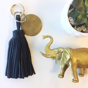 Accessories - Giant Tassel Keychain • Black
