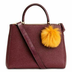 H&M Handbags - H&M handbag with pompom-new and never used!