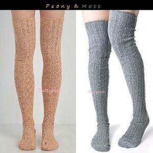 Peony and Moss Accessories - 2 Peony & Moss Marled Thigh High Over Knee Socks