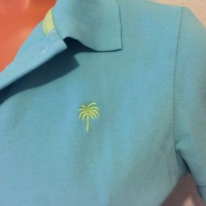 ✨LILLY PULITZER✨Seafoam green/blue collared polo