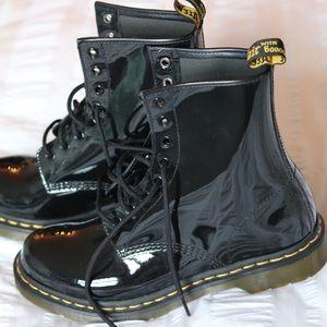 Doc Martens Patent Boots