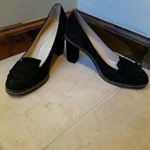 Kate Spade black chunky heels
