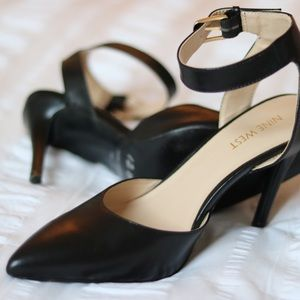 Nine West Open Back Black Pump