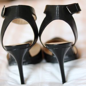 Nine West Shoes - Nine West Open Back Black Pump