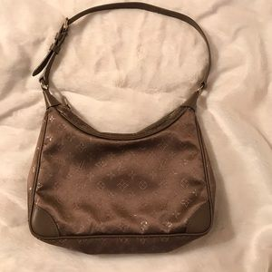 Louis Vuitton Monogram Satin Little Boulogne Taupe