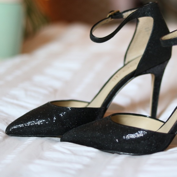 Aldo Shoes - Aldo Black Glitter Pumps